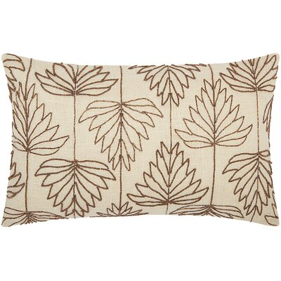 Guardhouse Beaded Lily Leaves Lumbar Pillow