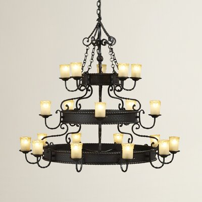 Skylemar 20-Light Shaded Chandelier