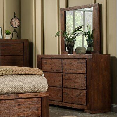 Creston 6 Drawer Double Dresser with Mirror