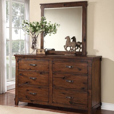 Camas 6 Drawer Double Dresser with Mirror