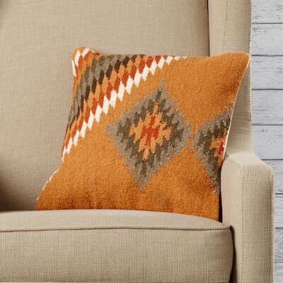 Elmira Throw Pillow Size: 22 H x 22 W x 4 D, Color: Golden Ochre/Toast / Army Green, Filler: Down