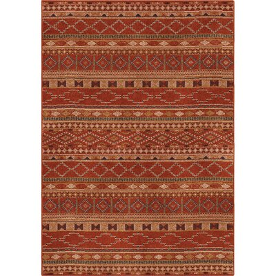 Fergus Red Area Rug Rug Size: 53 x 76