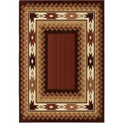 Liberty Brown Area Rug Rug Size: 53 x 76