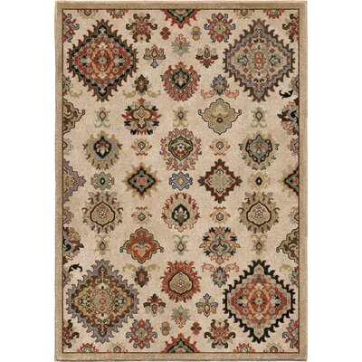 Marie Beige Area Rug Rug Size: 53 x 76
