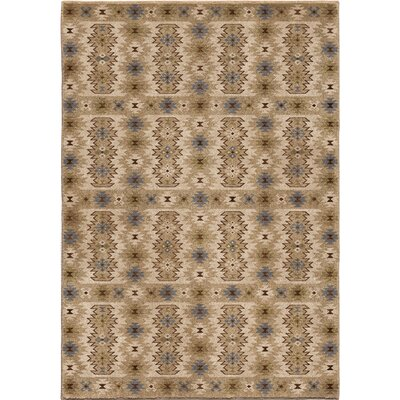 Marie Beige/Ivory Area Rug Rug Size: 53 x 76