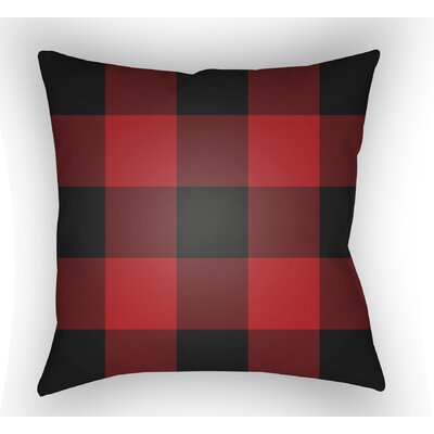 Marianmade Indoor/Outdoor Throw Pillow Size: 18 H x 18 W x 4 D, Color: Red / Black