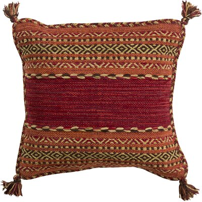 Alamosa Throw Pillow Size: 20 H x 20 W x 5 D, Color: Cherry