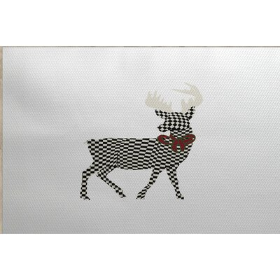 Christmass Gray Indoor/Outdoor Area Rug Rug Size: 4 x 6