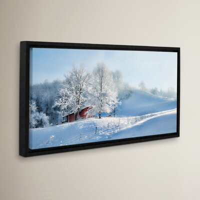 Morning Rays Against the Snow Framed Photographic Print on Wrapped Canvas LOON5375 33280087
