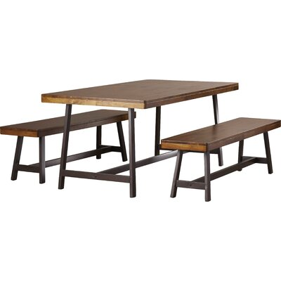 Huntington 3 Piece Dining Set Color: Oak