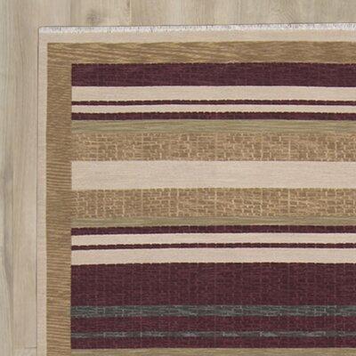 Sherrelwood Hand-Woven Beige/Red Area Rug