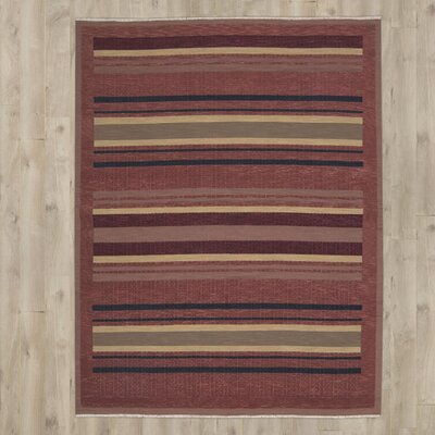 Sherrelwood Hand-Woven Wool Red Area Rug Rug Size: Rectangle 310 x 510