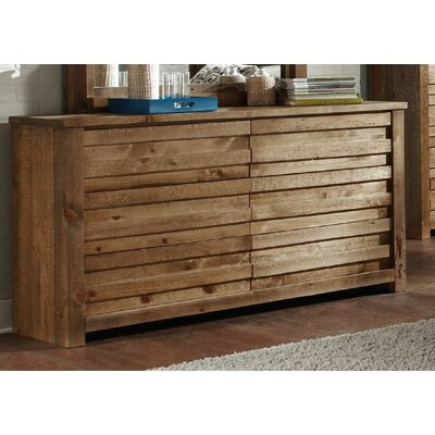 Bear Springs 6 Drawer Double Dresser