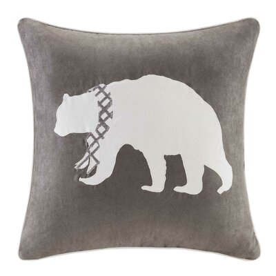 Apikuni Embroidered Suede Throw Pillow Color: Gray