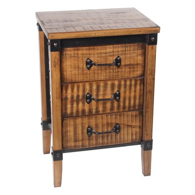 Minidoka 3 Drawer End Table