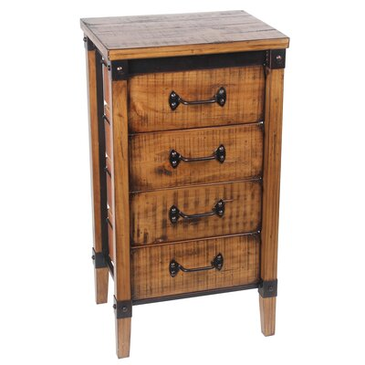 Minidoka 4 Drawer End Table