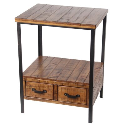 Keenesburg 2 Drawer End Table