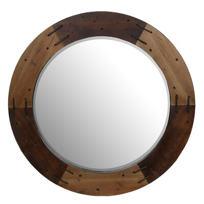 Furniture-Loon Peak Round Wooden Mirror