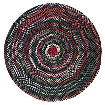 Roxborough Park Satin Black Area Rug Rug Size: Round 8
