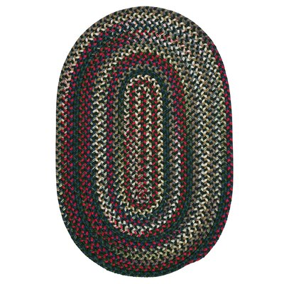 Roxborough Park Thyme Green Area Rug Rug Size: Oval 7 x 9