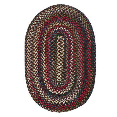 Roxborough Park Amber Red Area Rug Rug Size: Oval 10 x 13