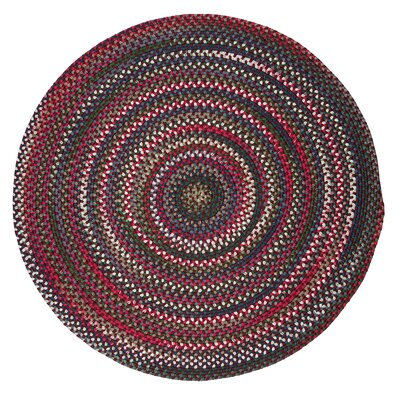 Roxborough Park Amber Red Area Rug Rug Size: Round 6