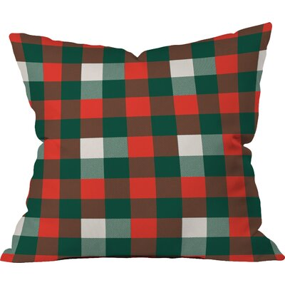 Birchwood Christmas Plaid Indoor/Outdoor Throw Pillow Size: Small
