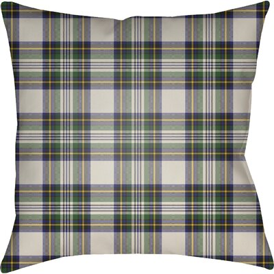 Elizabeth Indoor Outdoor Throw Pillow Size: 20 H x 20 W x 4 D, Color: Green/Neutral/Yellow/Blue