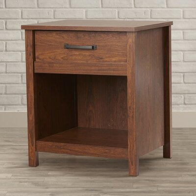 Sunlight Spire 1 Drawer Nightstand Finish: Milled Cherry