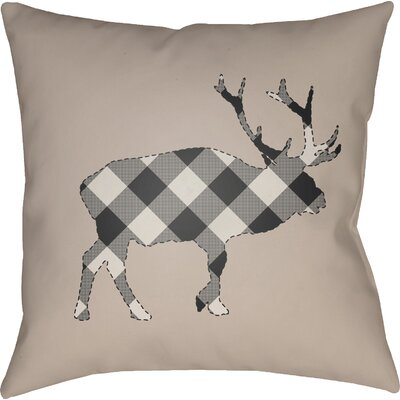 Bighorn Indoor Outdoor Throw Pillow Size: 18 H x 18 W x 4 D, Color: Black/Neutral
