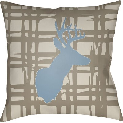 Dove Valley Indoor/Outdoor Throw Pillow Color: Brown, Size: 20 H x 20 W x 4 D