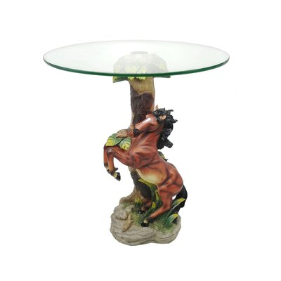Acres Jumping Horse End Table
