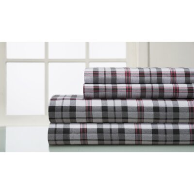 160 Thread Count 100% Cotton Flannel Sheet Set Size: King