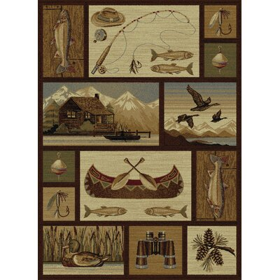 Brody Brown Area Rug Rug Size: Rectangle 4 x 6
