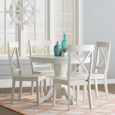 Parkerton 5 Piece Dining Set Finish: Creamy White