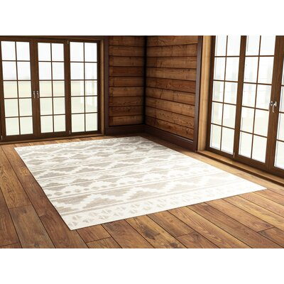 Manderson Hand Woven Gray/Beige Area Rug Rug Size: Rectangle 5 x 8
