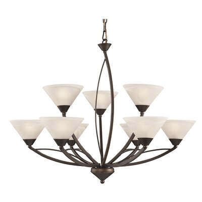 Morrow 9-Light Shaded Chandelier