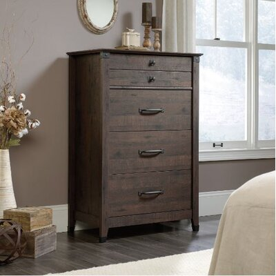 Newdale 4 Drawer Chest Color: Coffee Oak