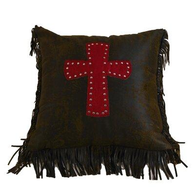 Applewood Cross Throw Pillow