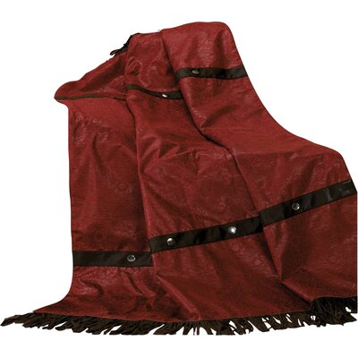 Applewood Fringed Throw Blanket Color: Red
