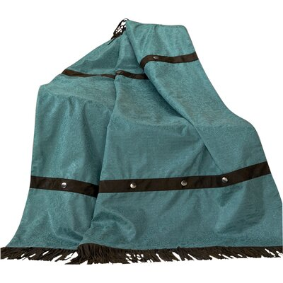 Applewood Fringed Throw Blanket Color: Turquoise