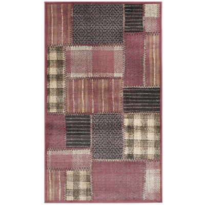 Guyot Red Area Rug Rug Size: 33 x 57