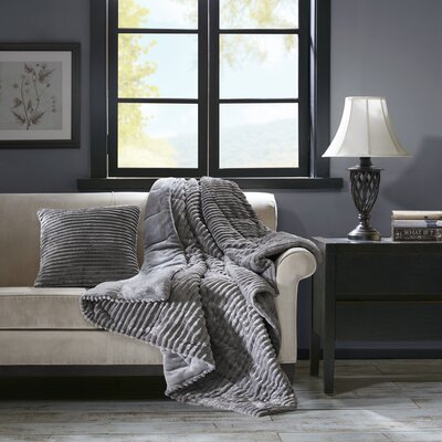 Wheat Ridge Throw Pillow Color: Gray
