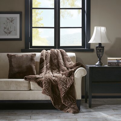 Springhill Corduroy Plush Throw Pillow Color: Brown