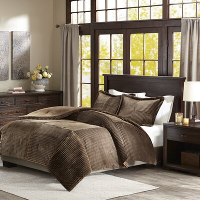 Wheat Ridge Comforter Set Size: Full/Queen, Color: Brown