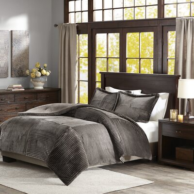 Wheat Ridge Comforter Set Size: Full/Queen, Color: Gray