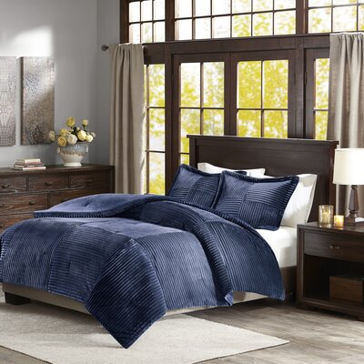 Wheat Ridge Comforter Set Size: King/California King, Color: Navy