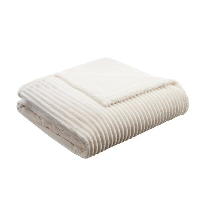 Springhill Corduroy Plush Blanket Size: King, Color: Ivory