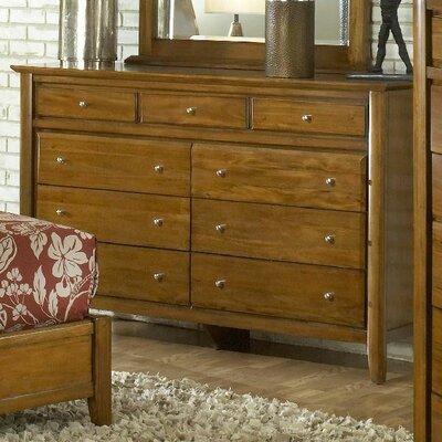 Pittsburg 9 Drawer Dresser Color: Mahogany
