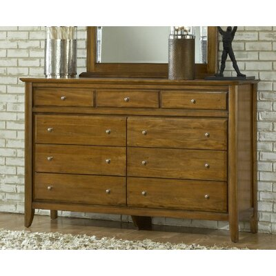 Pittsburg 9 Drawer Dresser Color: Mahogany